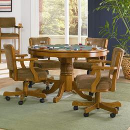 100951SET Mitchell 5 Pc Game Table Set (Table and 4 Chairs)in Oak