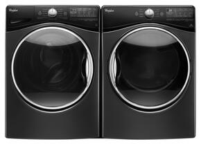 "Black Diamond Front Load Laundry Pair with WFW92HEFBD 27"" Washer and WGD92HEFBD 27"" Gas Dryer"