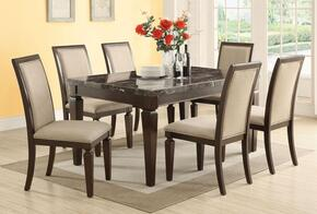 Agatha 72485T8C 9 PC Bar Table Set with Counter Height Table + 8 Chairs in Espresso Finish