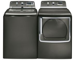 Metallic Carbon Top Load Laundry Pair with GTWS8355HMC 28