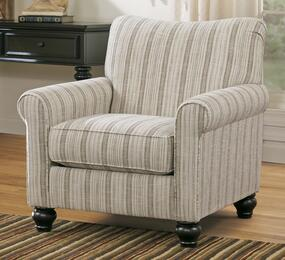 Elisabeth Collection MI-4861ACO-LINE 2-Piece Living Room Set with Accent Chair and Ottoman in Linen
