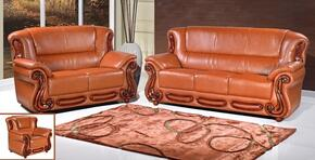 Bella 632-COGNAC-S-L-C 3 Piece Living Room Set with Sofa + Loveseat and Chair in Cognac