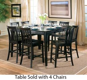 101038BLKSET5 Pines 5 PC Counter Height Dining Room Set with Table and Four Chairs Black Finish