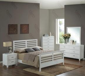 G1275CFB2DMN 4 Piece Set including Full Size Bed, Dresser, Mirror and Nightstand in White