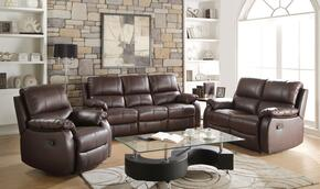 Enoch Collection 52450SLR 3 PC Living Room Set with Motion Sofa + Reclining Loveseat + Recliner in Dark Brown Color