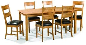 Family Dining FD-TA-L3678169-CNT-C Dining Room Four Leg Table and 6 Chairs in Chestnut