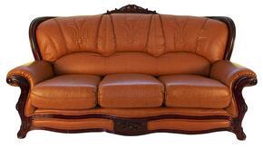 989BROWNS3SET Traditional Style Sofa in Light Brown with Mahogany Wood Finish + Loveseat + Chair