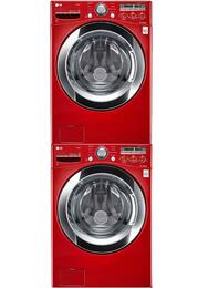Red Front Load Laundry Pair with WM3250HRA 27