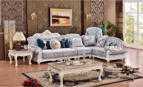 Fabia Collection 694LSSEC 3-Piece Living Room Set with Sectional Sofa, End Table and Coffee table in Rich Pearl Finish