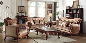 Bordeaux 605-S-C 2 PC Living Room Set wth Sofa and Chair in Rich Cherry Finish