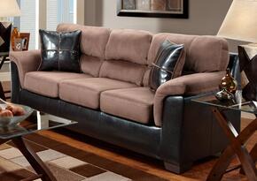 6200-LC-SL Verona IV 2 Piece Annabelle Living Room Set, Sofa + Loveseat, in Laredo Chocolate