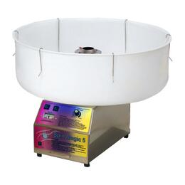 "7150300 26"" Paragon Spin Magic Cotton Candy Machine with Plastic Bowl, High Performance Head and Cotton Candy Stand"