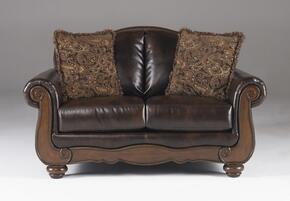55300352PCKIT Barcelona 2-Piece Living Room Set with Loveseat and Chair in Antique Brown