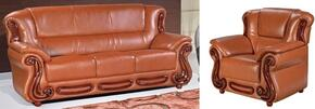 Bella 632-COGNAC-S-C 2 Piece Living Room Set with Sofa and Chair in Cognac