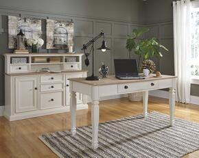 Goldbourne Collection HM-413-36-35-38 3 PC Large Credenza + Hutch + Large Desk in Cream Finish