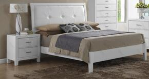 G1275ATBN 2 Piece Set including Twin Size Bed and Nightstand  in White