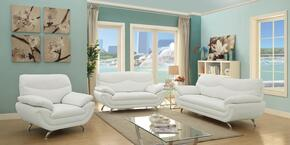 G430SET 3 PC Living Room Set with Sofa + Loveseat + Armchair in White Color