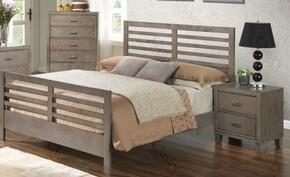 G1205CQB2CHN 3 Piece Set including Queen Bed, Chest and Nightstand in Gray