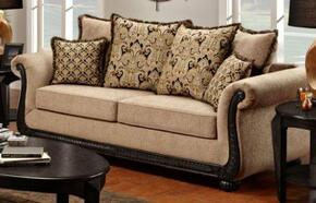 6000-SL-DT Verona 2 Piece Lily Living Room Set, Sofa + Loveseat, in Delray Taupe