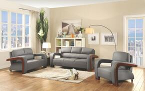 G400 Collection G411SET 3 PC Living Room Set with Sofa + Loveseat + Armchair in Grey Color