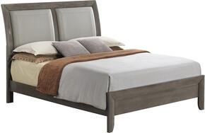 G1505AKBCHDMNTV2 6 Piece Set including King Size Bed, Chest, Dresser, Mirror, Nightstand and Media Chest  in Gray.