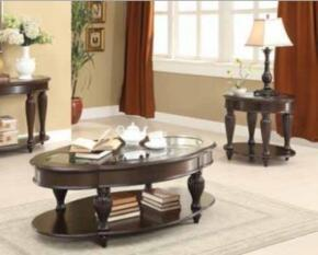 "70384 Collection 703847 22"" End Table and Coffee Table in Dark Merlot Finish"