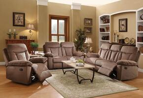 Elisha Collection 51425SLRT 6 PC Living Room Set with Sofa + Loveseat + Recliner + 3 PK Table Set in Chocolate Color