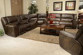 Carmine Collection 4151-8-9-1223-19/3023-19 3-Piece Sectional with Reclining Sofa, Wedge and Reclining Loveseat in Timber