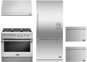 "RGV2366N 36"" Natural Gas Range with 6 Sealed Dual Flow Burners, 5.3 Cu. Ft. Oven Capacity, Convection Bake, and Flat Vent Trim: Stainless Steel"