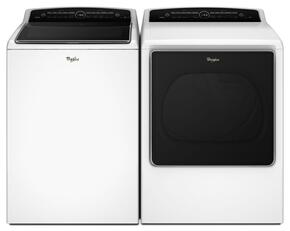 "Cabrio White Top Load Laundry Pair with WTW8500DW 27.5"" Washer and WGD8500DW 29"" Gas Dryer"