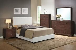 14390QDMCN Ireland Queen Size Platform Bed + Dresser + Mirror + Chest + Nightstand