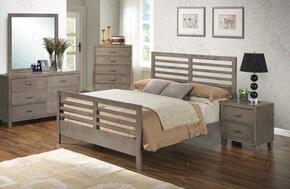 G1205CQB2DMN 4 Piece Set including Queen Bed, Dresser, Mirror and Nightstand in Gray