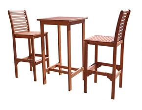V495SET1 2  Acacia Bar Stools and V495T Outdoor Wood Bar Table