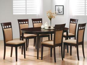 100770SET73 Mix & Match 5 Pc Dining Room Set in Cappuccino Finish