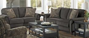 Downing Collection 43842PCSTLKIT1CHAR 2-Piece Living Room Sets with Stationary Sofa, and Loveseat in Charcoal