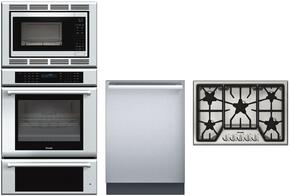 "MEDMCW31JP 30"" Triple Combination Wall Oven, SGS305FS 30"" Gas Cooktop and DWHD440MFM 24"" Fully Integrated Dishwasher"
