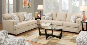 Norell Collection 51255SL 2 PC Living Room Set with Sofa + Loveseat in Caprice Hemp and Chicklet Ceil Color