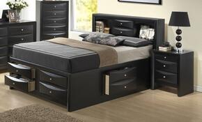 G1500GTSB3CHN 3 Piece Set including Twin Size Bed, Chest and Nighstand  in Black