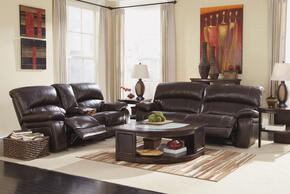 Charlize Collection MI-9980PSL-DKBR 2-Piece Living Room Set with 2-Seat Power Reclining Sofa and Power Glider Reclining Loveseat in Dark Brown