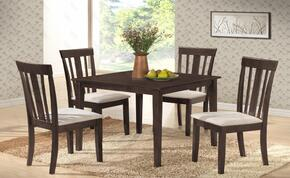 """G0037TC 5 PC Dining Room Set with 36"""" Dining Table + 4 Side Chairs in Wenge Finish"""