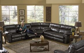 Nolan Collection 4041-8-9-1223-29/3023-29 3-Piece Sectional with Reclining Sofa, Wedge and Reclining Loveseat in Godiva