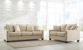 Mauricio 81601-38-35 2-Piece Living Room Set with Sofa and Loveseat in Linen Color