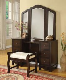 0655206553 Annapolis Vanity and Vanity Trifold Mirror in Brown
