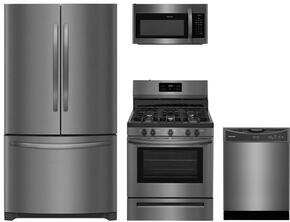 4-Piece Black Stainless Steel Kitchen Package with FFHN2750TD 36