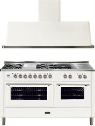 2-Piece True White Kitchen Package with UMT150FSDMPB 60