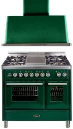 2-Piece Emerald Green Kitchen Package with UMTD100FDMPVS 40