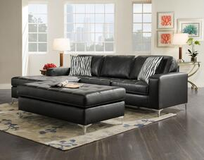 1874008811SECOG Zaire 2 PC Sectional + Ottoman with 16 Gauge Border Wire, Throw Pillows, Solid Kiln Dried Hardwood Frames, Sewn Pillow Cushions, Sinuous Springs, Attached Cushions in Oregon Gunmetal