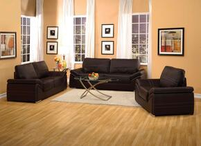 Ember 51695SLC 3 PC Living Room Set with Sofa + Loveseat + Chair in Espresso Color