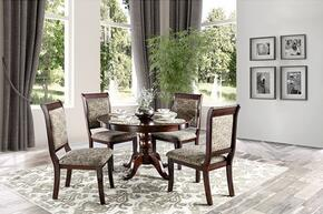 St. Nicholas II Collectio CM3224RT4SC 5-Piece Dining Room Set with Round Table and 4 Side Chairs in Antique Cherry