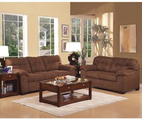 Aislin 50380SLT 5 PC Living Room Set with Sofa + Loveseat + Coffee Table + 2 End Tables in Espresso Finish